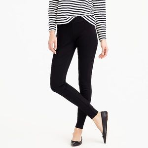 J. Crew Pixie Black Skinny Stretch Ponte Pants